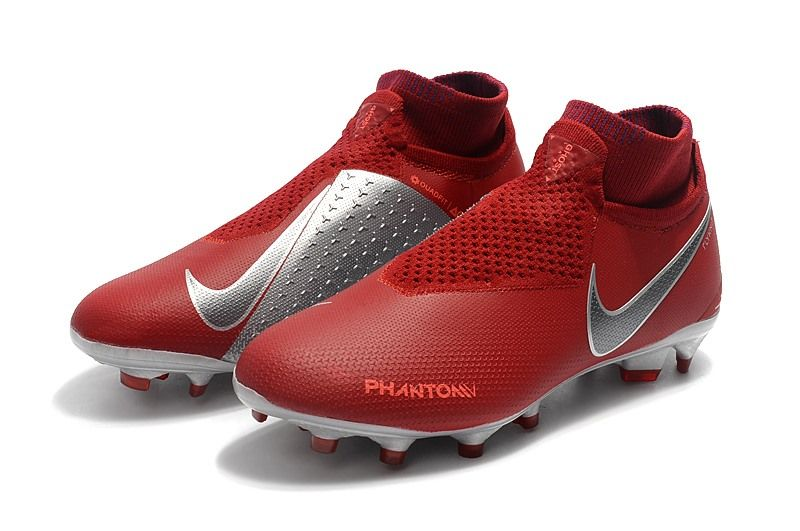 size 40 a88fe d8c43 Nike Phantom Vision Elite Dynamic Fit FG Cleat - Red Silver