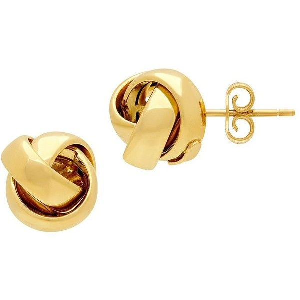 Lord Taylor Goldtone Knot Stud Earrings 775 Liked On Polyvore Featuring Jewelry