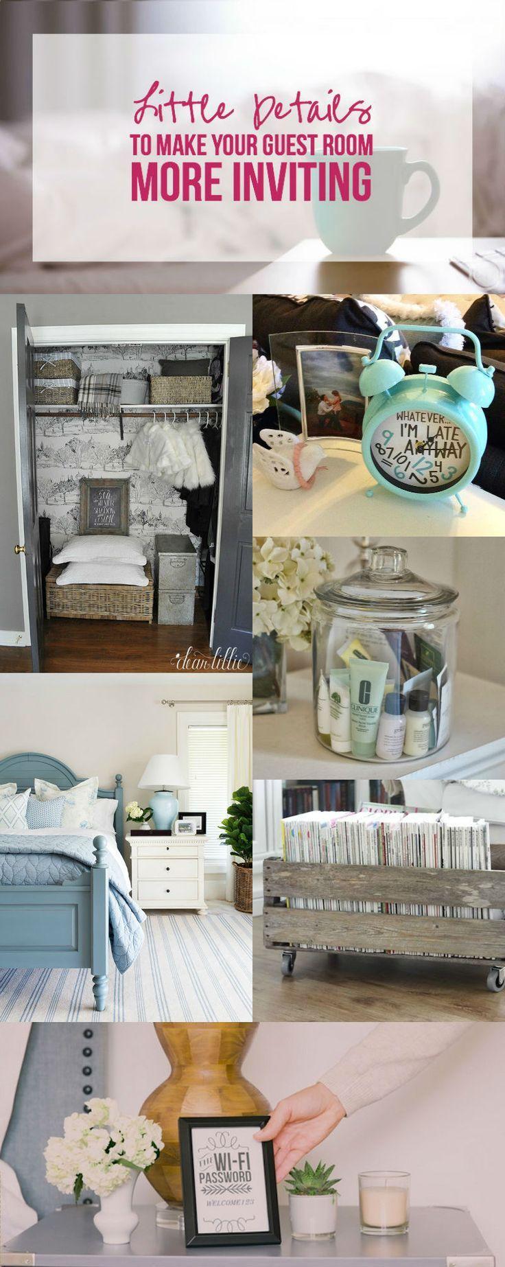 Little Details to Make Your Guest Room More Inviting | Diy deko ...