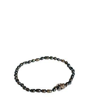 Orelia Hematite Skull Bracelet
