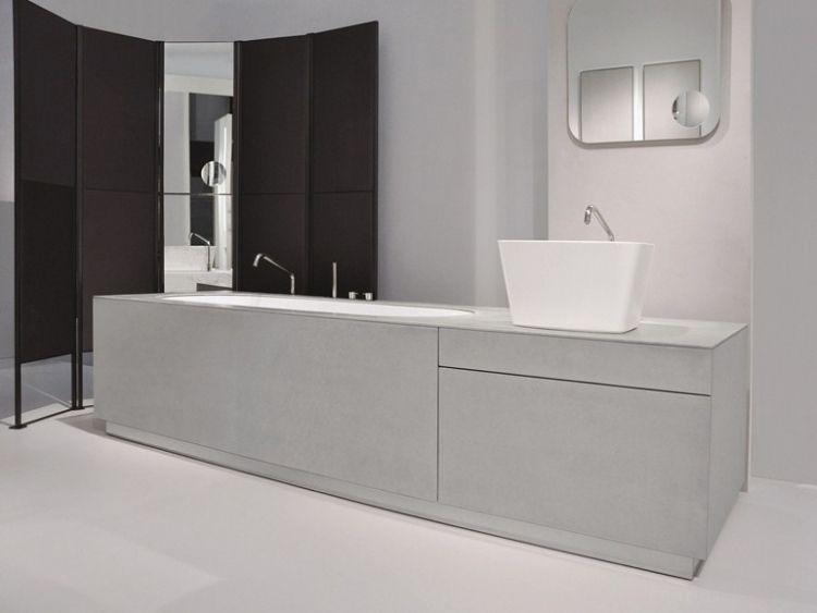 Toom Badezimmermöbel ~ Badewanne waschtisch system in beton optik bad pinterest