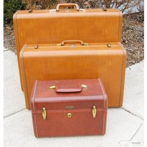 Vintage 50s Samsonite Luggage Suitcases Train Case - eBay (item ...