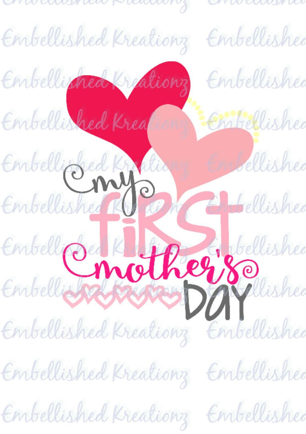 Premium Quot My First Mother 39 S Day Quot Vinyl Decal Quote Vinyl Decals Quotes Vinyl Decals Custom Letters