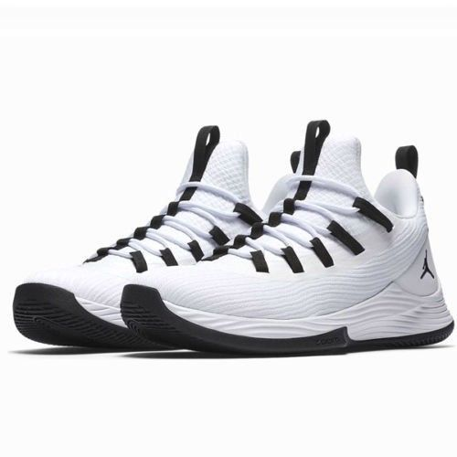 6629398489bb4 Jordan Ultra Fly 2 Low Mens Basketball Shoes 10 White Black  Jordan   BasketballShoes
