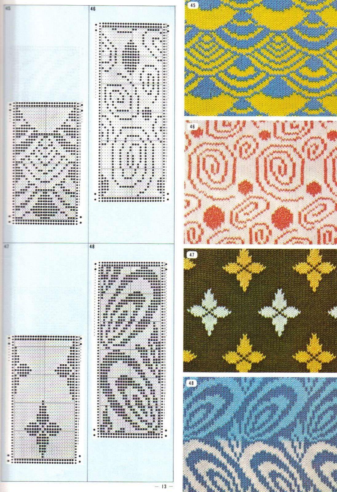 jaquard pattern   Strickmuster   Pinterest   Strickmuster, Stricken ...
