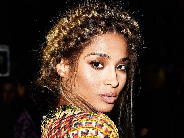 Completely obsessed with Ciara's braided fishtail crown and flawless complexion