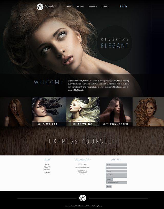 Website Design Inspiration Hair Salons Best Salon Beauty Hacks Video Salon Website