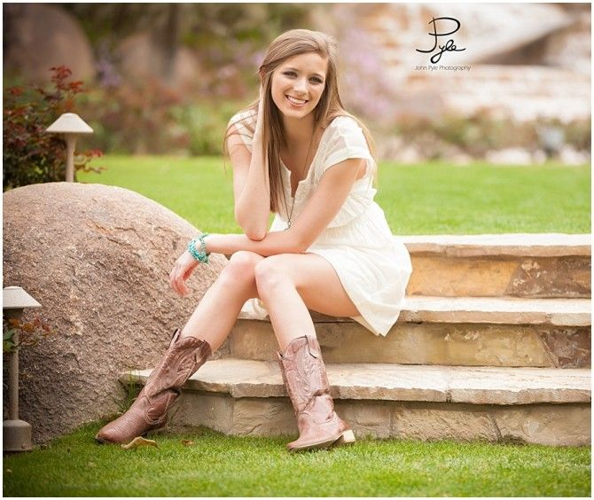 Senior Picture Ideas In The Country: Senior Pic-dress & Cowboy Boots