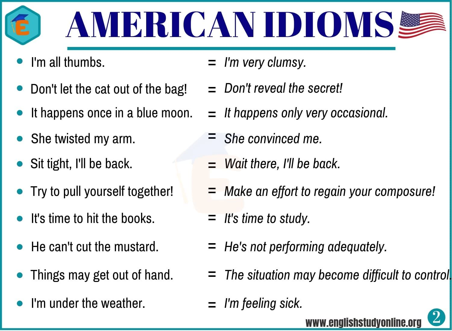 20 Important American Idioms With Example Sentences