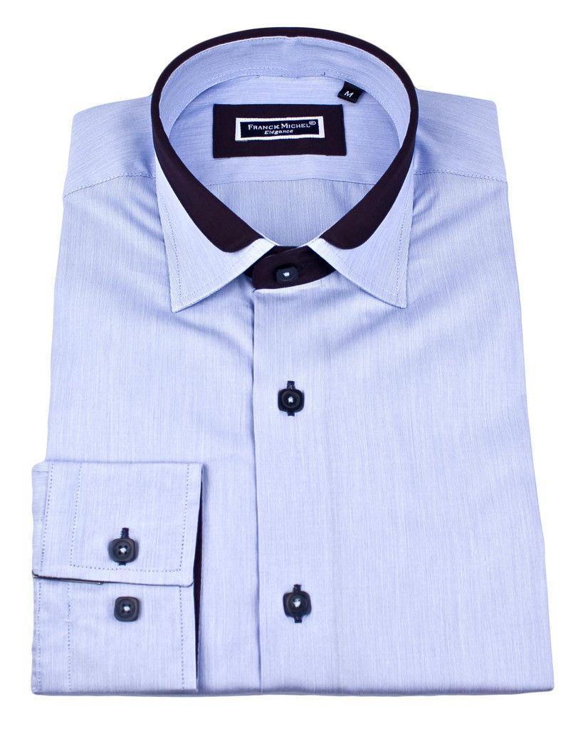 Shirt design gents - Men S Designer Shirts Lyon Milleret Blue Urunique Com