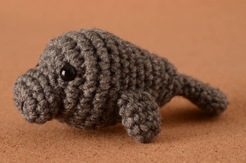 Mini Manny the Manatee Crochet Toy Doll by LoveKnotsCrochet on Etsy ...