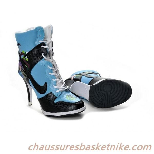 discount buying new uk store Talons Haute Couture Bleu Noir Nike Dunk SB Talons Haut Bleu Noir ...