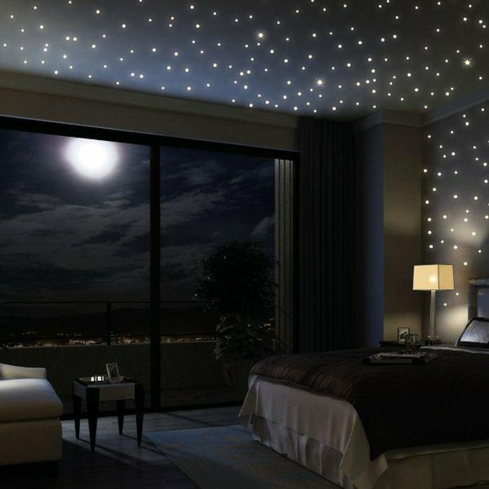 Sternenhimmel Aus Led Romantisches Ambiente Im Dunklen Zimmer