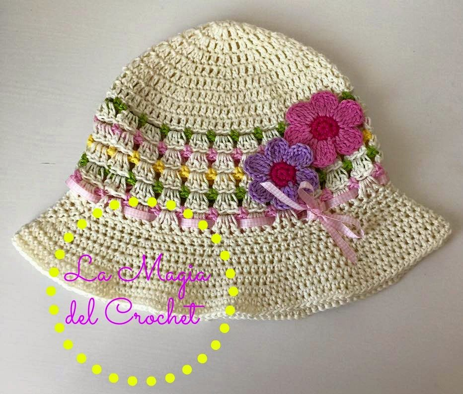 SOMBRERO DE VERANO PASO A PASO CON VÍDEO TUTORIAL - SUMMER HAT WITH ...