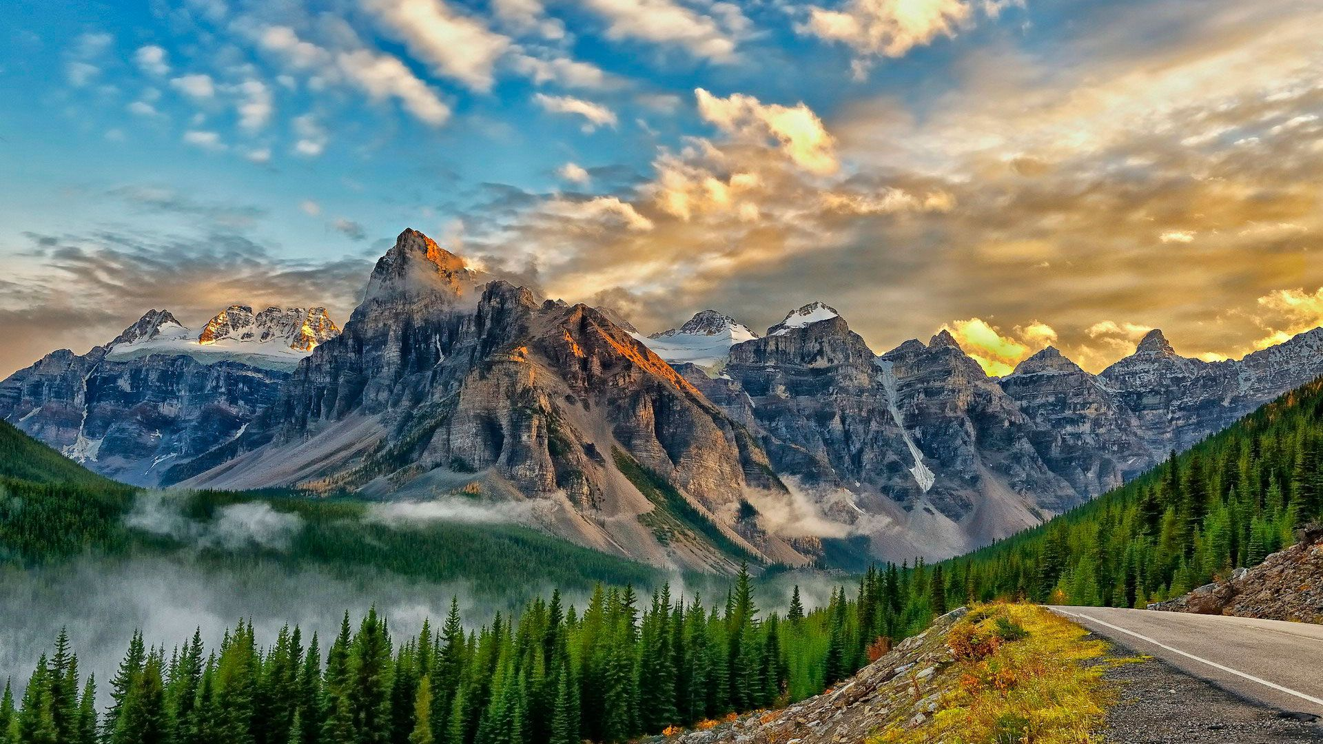 Beautiful Scenery Full HD Wallpaper Banff national park