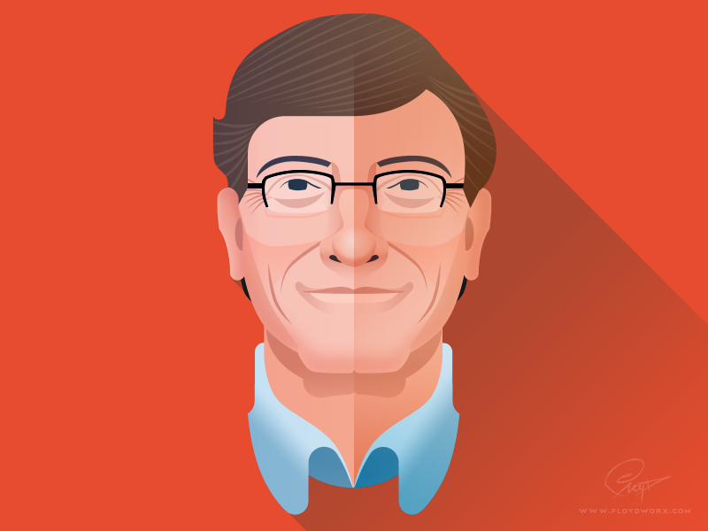 Bill Gates Infographic Element Bill Gates Illustration Character Design Game Character Design