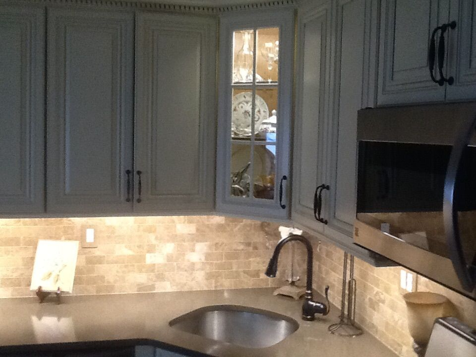 Our VERY happy customer sent in her finished #kitchendesign and its beautiful! #whitekitchencabinets #kitchencabinets #solidwoodcabinets see more at solidwoodcabinets.com ! #allwoodkitchencabinets #allwoodcabinets #kitchenremodel #homeimprovement #discountkitchencabinets #whitecabinets #kitchenappliances #kitchendesigning #kitchens