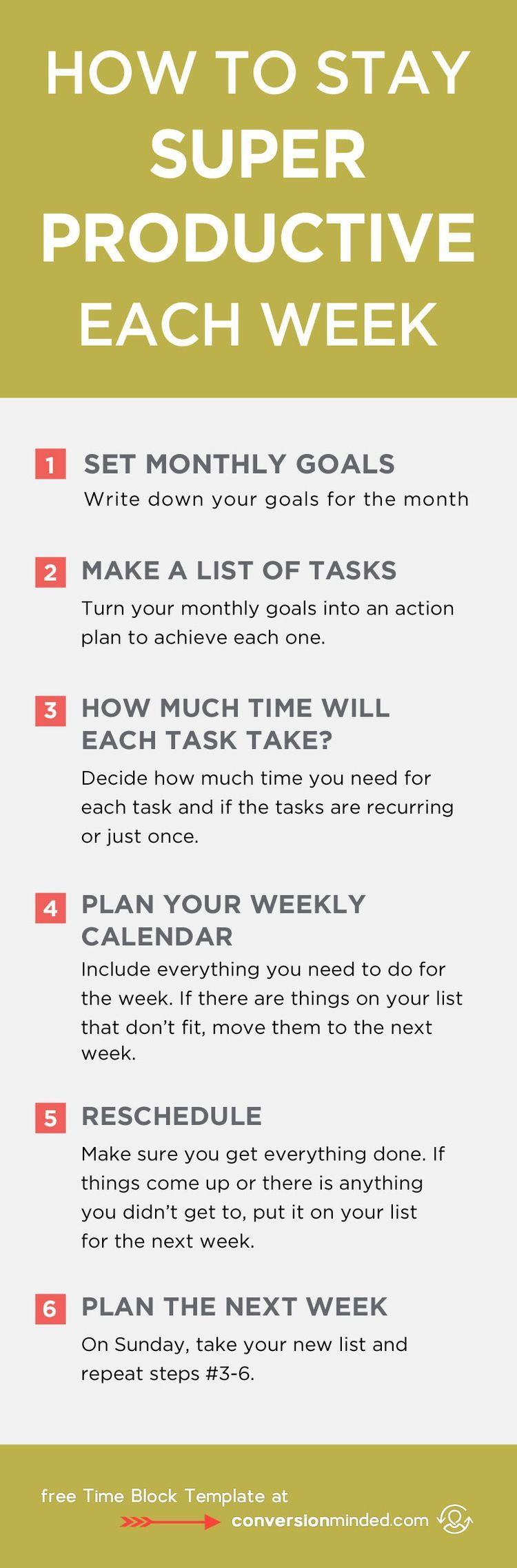 How to Stay Super Productive Each Week | Ready to turn your to-do list into an action plan? This guide for entrepreneurs and bloggers will help you prioritize goals and tasks so you know exactly what you need to do each day to reach your goals. It also includes my secret productivity weapon – the Time Block Template! Click through to see all the tips! #entrepreneur #followback #onlinebusiness #startup