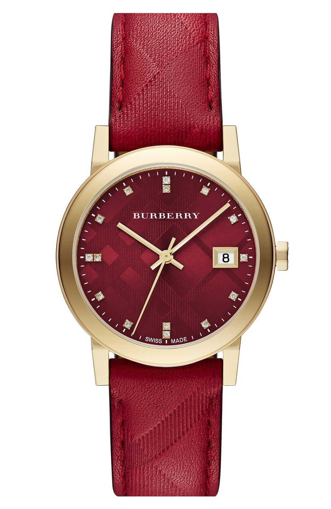 e397081f12a This red Burberry watch is the perfect addition to a stacked wrist ...