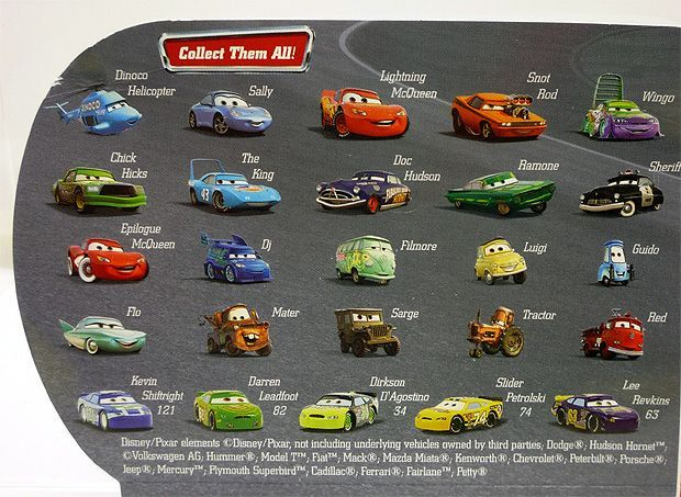 Disney Cars Characters Names Google Search Cars