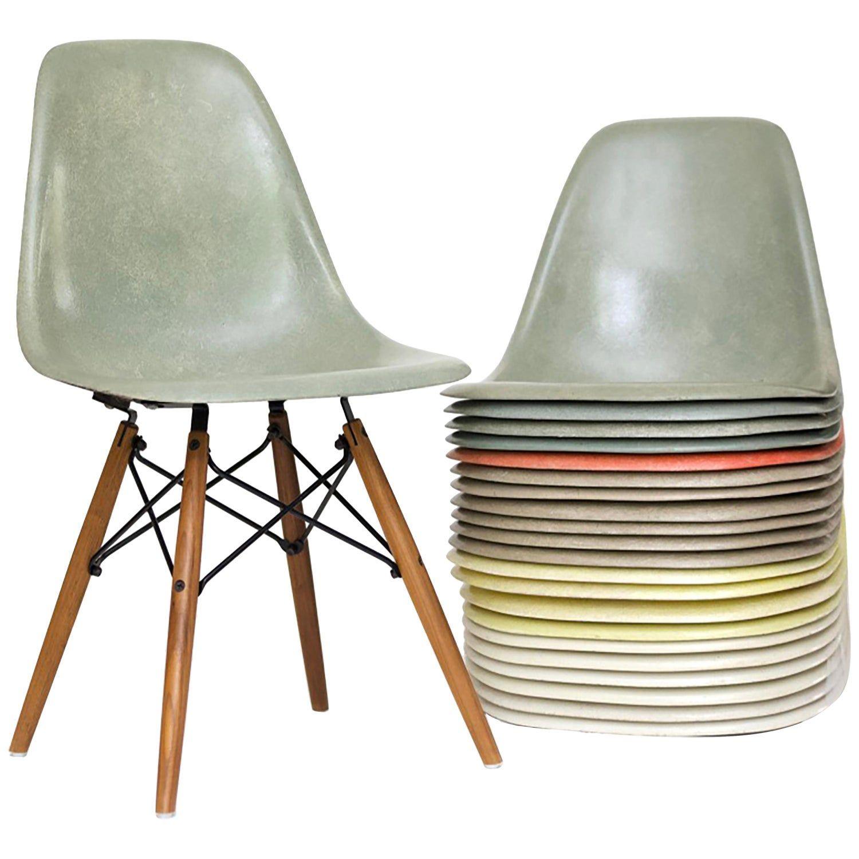 Vintage Eames Dsw Herman Miller Fibergl Dining Chairs