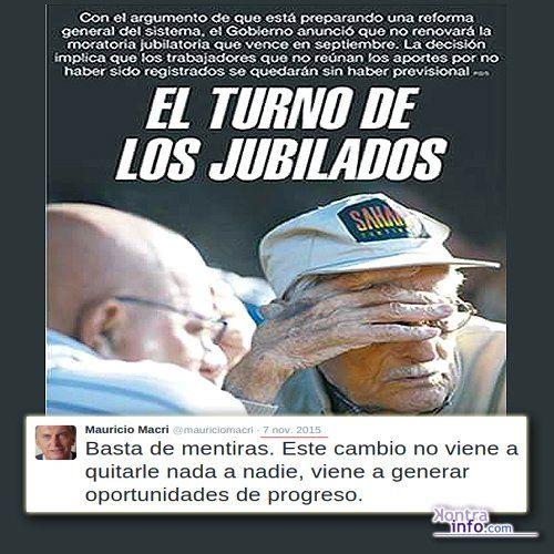 """Un nuevo derecho social que perderá el pueblo argentino. Queda cada día más en evidencia el engaño de """"Cambiemos"""""""