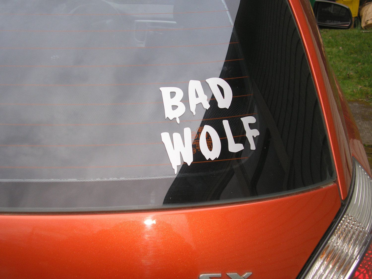 Doctor Who Car Bad Wolf Vinyl Decal Vehicle Sticker Silver 5 00 Via Etsy Bad Wolf Doctor Who Doctor [ 1125 x 1500 Pixel ]