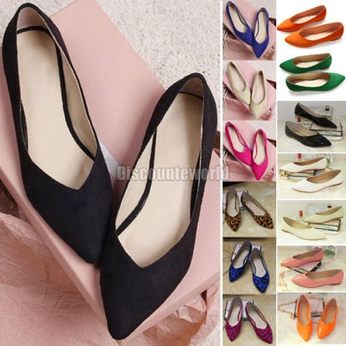 Flat shoes on asian woman