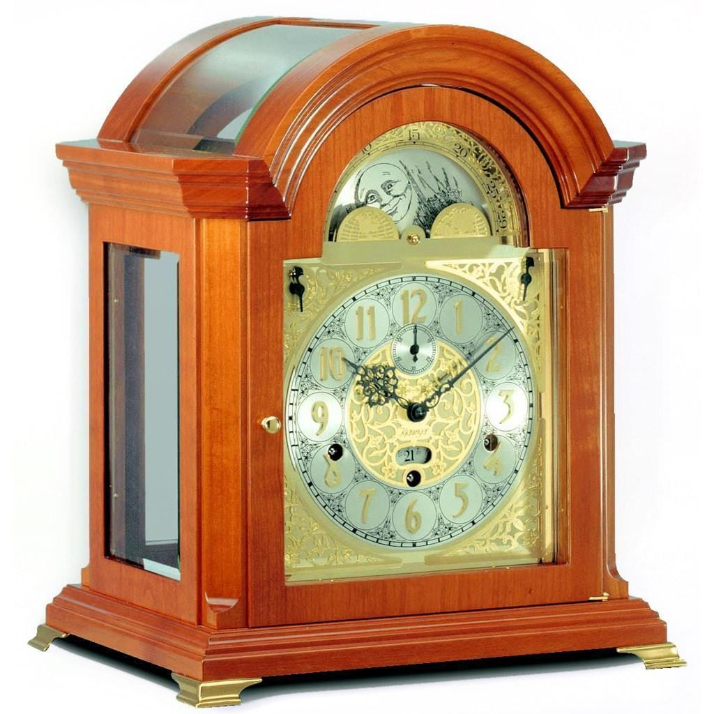Kieninger Haffner 1708 41 01 Bracket Mantel Clock Triple Chimes 9 Bells Cherry Mantel Clock Clock Mantel