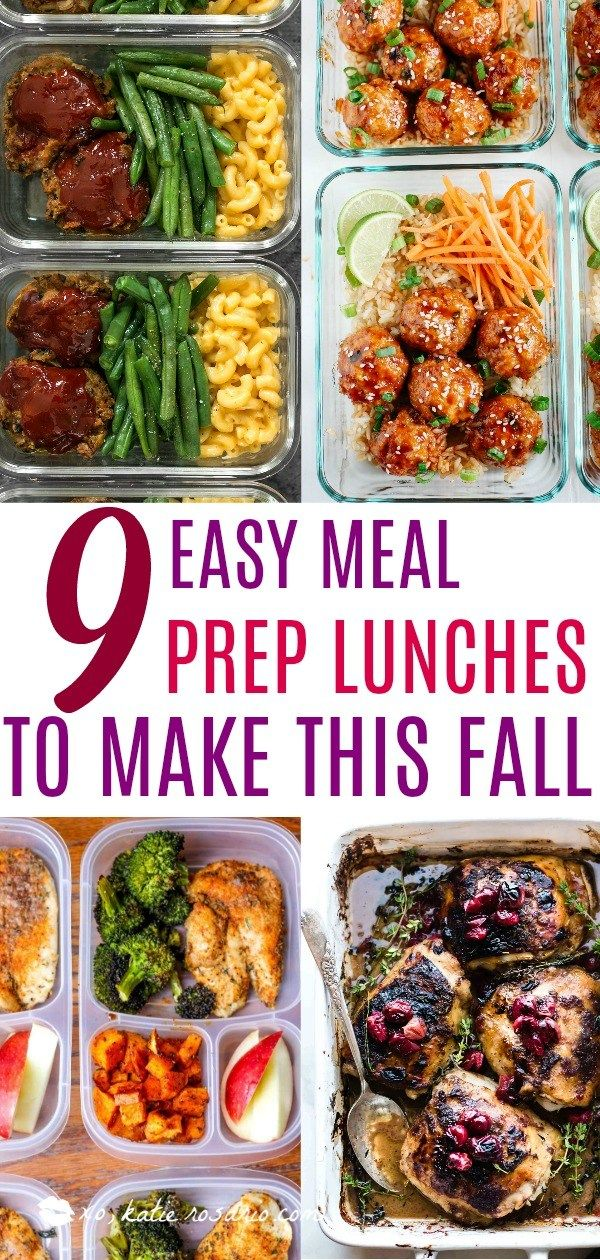 9 Easy Meal Prep Lunches to Make This Fall #weeklymealprep
