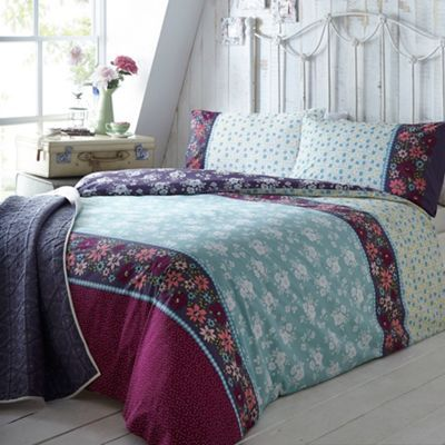 At Home With Ashley Thomas Aqua Bouquet Print Bedding Set At I Love Floral And