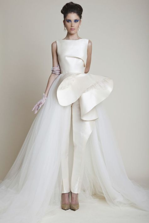 1151c3f35b3 white wedding jumpsuit Azzi   Osta