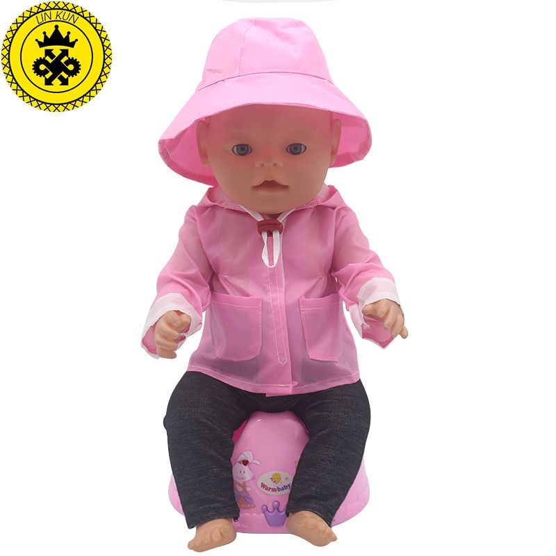 2pcs//set The Hat+Suit Wear For 43cm Baby Born Zapf Doll 17In Babies Clothes