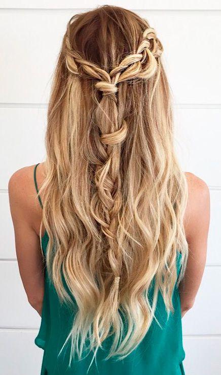43 Peinados Para Damas De Honor E Invitadas De La Boda El Blog De Una Novia Peinados Boda Pelo Largo Peinados Peinados Con Cabello Suelto