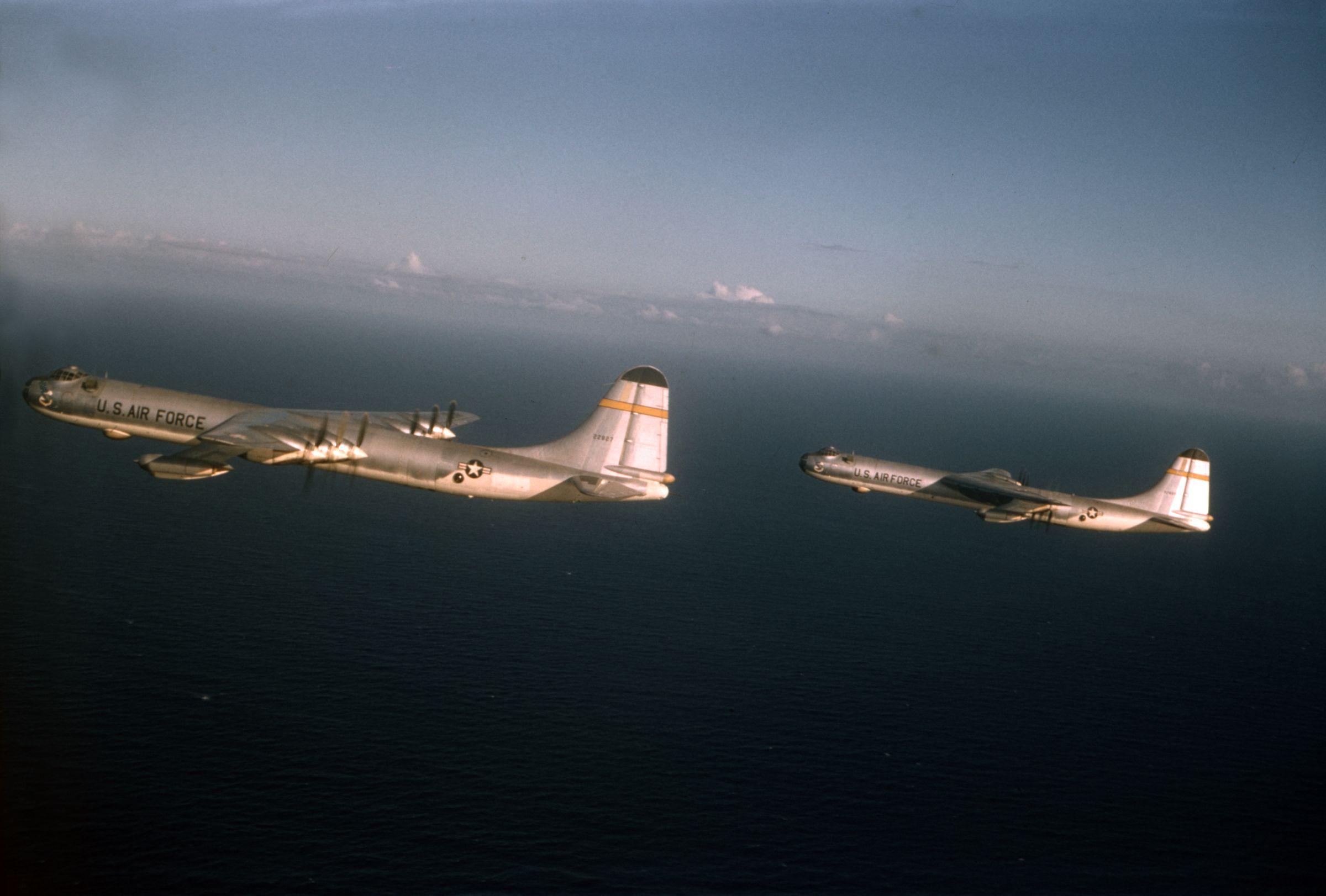 AntiFlash White and Bare Aluminum Convair B36J Peacemakers