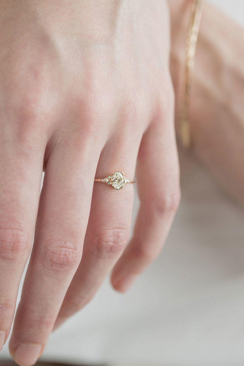 Oval Lady\'s Slipper Ring, 1/2ct. Diamond | Engagement & Wedding ...