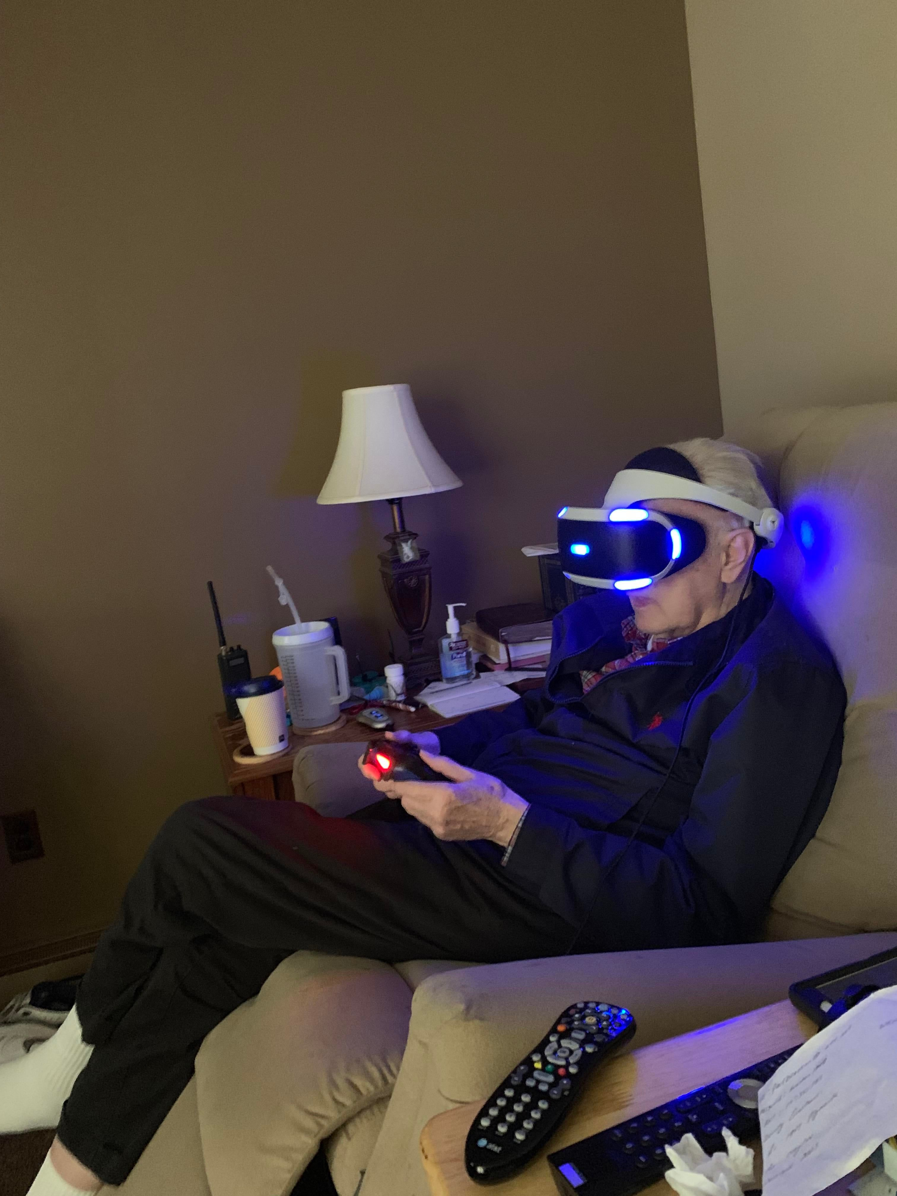 Got to introduce my 81 year old Grandfather to VR! Up