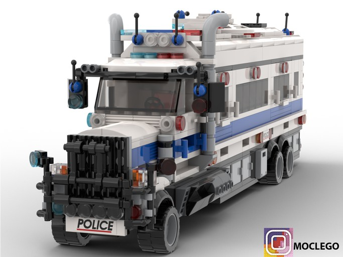 Police Unit Command Center Truck Lego Models Lego City Lego Star Wars Sets