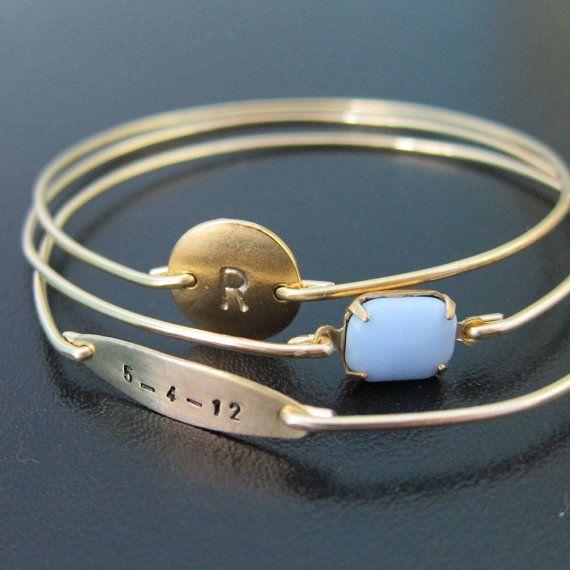 Personalized Jewelry For Mom Gift Bracelet My Dear Baby Set Bracelets