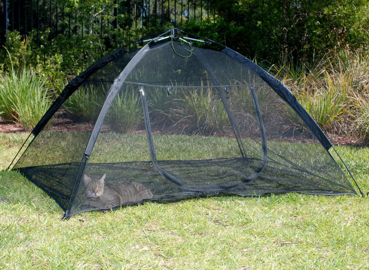 Happy Habitat Pop Up Mesh Tent Outdoor Cat Pet Small Animal Enclosure in Pet Supplies Cat Supplies Furniture u0026 Scratchers & cat enclousures | Up Mesh Tent Outdoor Cat Pet Small Animal ...