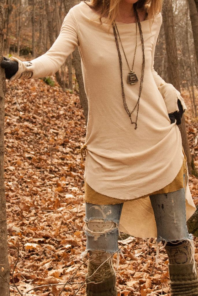 Warrior Femme Thermal Dress in Ecru