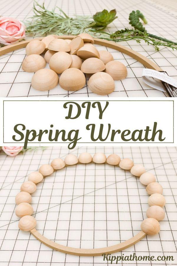 Photo of DIY spring wreath