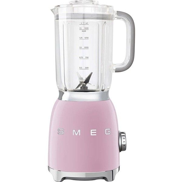 Smeg Blender (260 AUD) ❤ liked on Polyvore featuring home, kitchen & dining, small appliances, smeg, juicer, ice crusher blender, drink blender and vegetable juice blender