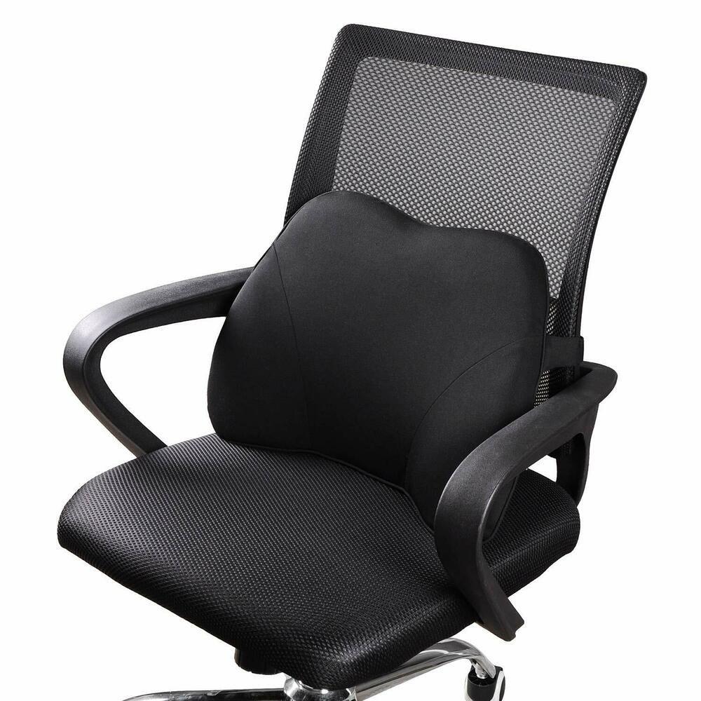 Details about Lumbar Memory Foam Pillow Chair Back Cushion