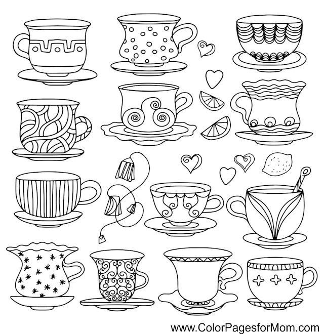 Coffee Coloring Page 37 Tea Cup Drawing Coloring Pages Coffee