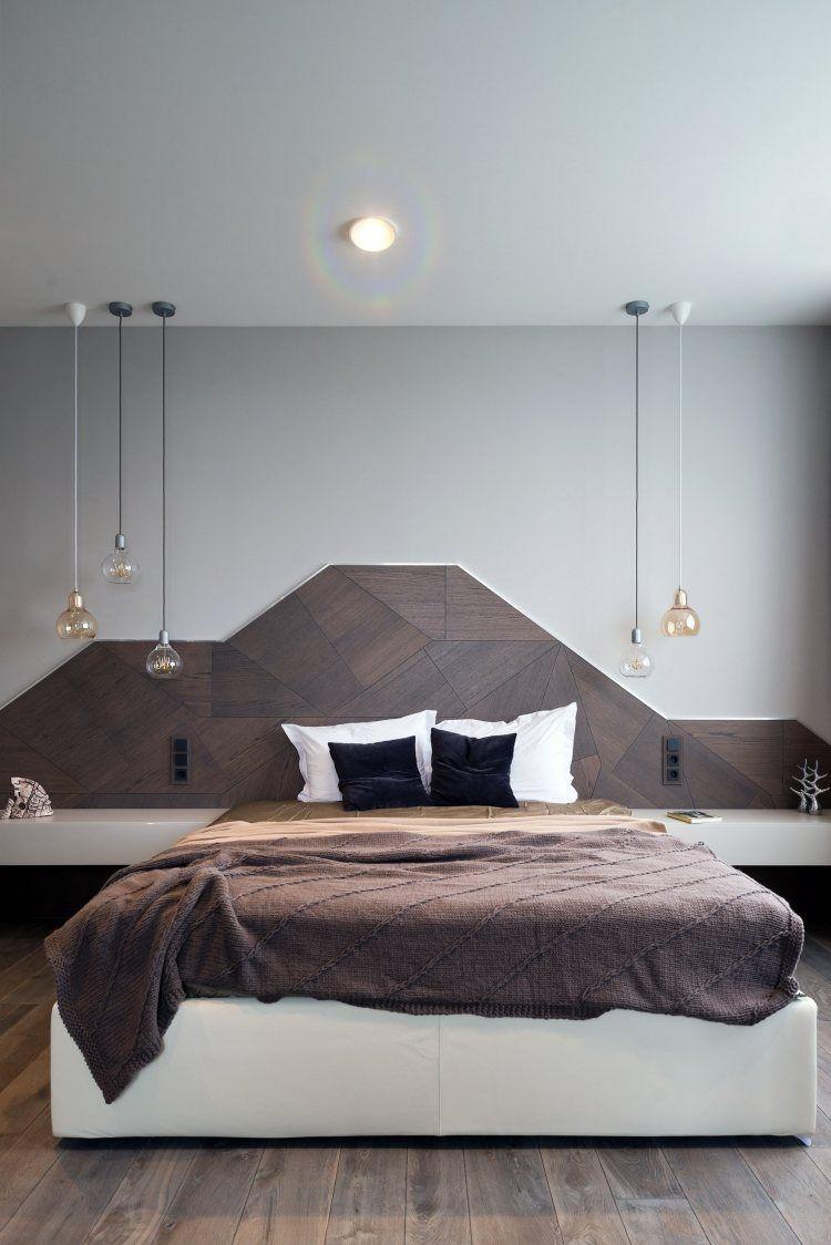 t te de lit moderne 25 belles id es pour chambre. Black Bedroom Furniture Sets. Home Design Ideas