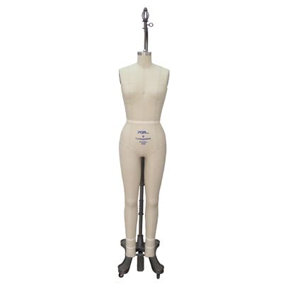 http://www.pgmdressform.com  $499.00  Ladies Full Body Form (Professional, 605B)  Natural body shaped with realistic looking buttock  Pinnable dress form with collapsible shoulders  Covered with 100% linen  With bumpt out side seams to enable feel when draping with fabric  Easily adjust the height by stepping on a foot pedal