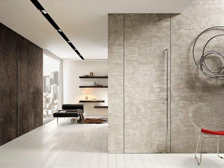 Porta a bilico a filo muro in cemento FILOMURO by GAROFOLI   Doors ...