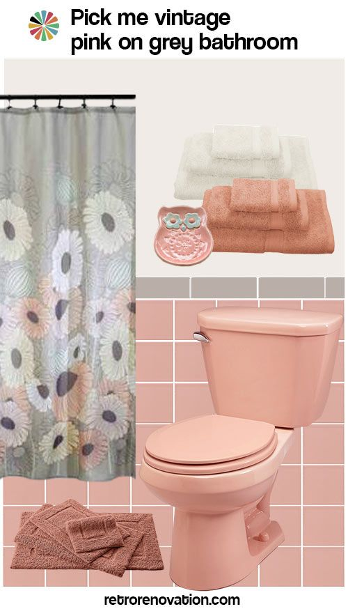 12 Ideas To Decorate A Pink And Gray Vintage Bathroom With Images