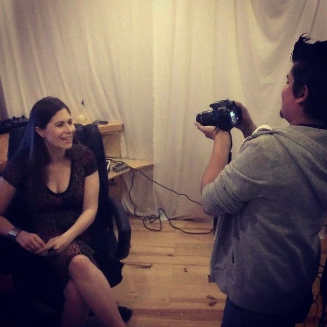 En entrevista para @Sounds_World !!! Muy pronto podrán verla online!!! #interview #music